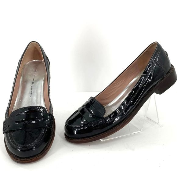 Marc by Marc Jacobs Black Penny Loafers 36/6